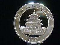 "- M.F.B.- China, 10 -Yuan  2000  "" Panda mit Bambuszweig  "" Silber/ Spgl TOP 258"