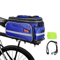 Arltb Bike Rear Seat Pack Bicycle Waterproof Trunk Bag with Rain Cover Shoulder