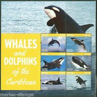 NEVIS  2015  WHALES & DOLPHINS  SHEET II   MINT NH