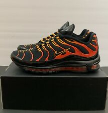 new concept 40025 b7c14 Nike Air Max 97 Plus Shoes Black Engine 1 Orange Rise Men s Size 11 AH8144  002