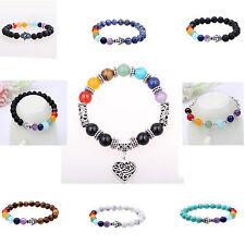 7 Chakra Beaded Yoga Reiki Healing Balance Bracelet Charm Buddha Head Bracelets