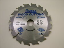 Circular saw blade wood rip cut carbide tipped 130mm 16 teeth,20/16/12.75mm bore