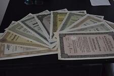 Reichsmark Schuldverschreibungen aus dem berühmten Reichsbankschatz 1937-43