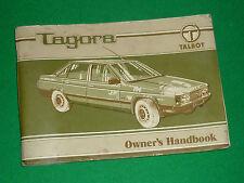 TALBOT TAGORA OWNERS HANDBOOK - ENGLISH EDITION 1981 (2.2 2.6)