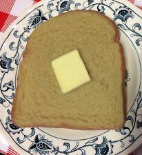 Realistic Faux Fake Food BREAD & BUTTER Sandwich WHEAT BREAD Slice BUTTER Pat