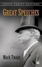 NEW Great Speeches by Mark Twain (Dover Thrift Editions) by Mark Twain