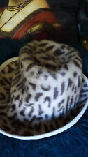 Beautiful and quirky leopard print vintage hat from Nohel Wien Austria