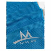 "MISSION ENDURACOOL INSTANT COOLING MESH TOWEL XL BLUE 15"" X 36"" WITH CASE"
