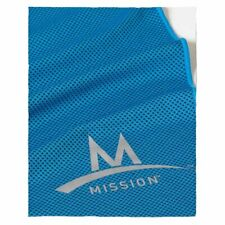 """MISSION ENDURACOOL INSTANT COOLING MESH TOWEL XL BLUE 15"""" X 36"""" WITH CASE"""