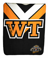 Wests Tigers NRL Rugby Polar Fleece Throw Blanket Game Day Mothers Day Gift (CA)