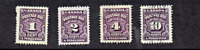 1935- Canada (BNA) Postage Due Lot of 4 P/Set Sc#J15-  M/H/Used
