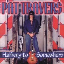 PAT TRAVERS Halfway to Somewhere CD 1995 Blues Bureau International Promo