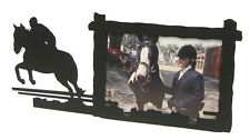 "Hunter Jumper Horse Black Metal Picture Frame 3.5""x5"" - 3""x5"" H Hunting Jumping"