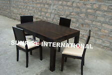 European Style Wooden Dining Set ( 1 Table + 4 chairs )