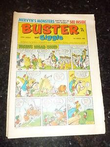 BUSTER & GIGGLE Comic - Date 03/08/1968 - UK Paper comic