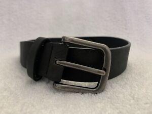 NEXT Boy's Belt - Black - Silver Buckle - 83 cm long - GOOD CONDITION