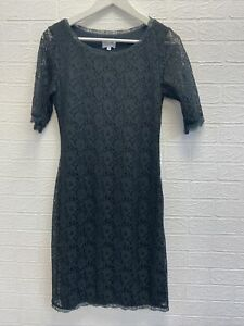jigsaw green floral lace dress size S ladies fashion clothing