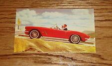 1962 Chevrolet Corvette Post Card 62 Chevy