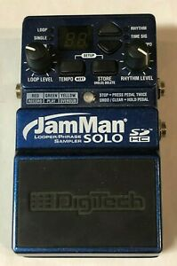 DigiTech JamMan Looper Phrase Sampler Solo SDHC Guitar Effect Pedal
