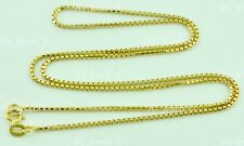 3.00 grams 14k solid yellow gold box chain necklace 18 inches h3jewels #6189