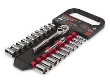 "1/4"" Drive Socket Set SAE Metric 5/32 to 1/2 Inch 4-13 mm 22-Piece Tekton 1060"