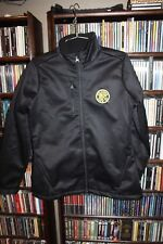 Columbus Crew MLS Soccer Antigua black zip front jacket waterproof Ladies M (134