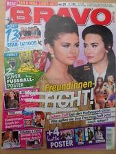 BRAVO 21 - 15.5. 2013  (1) Selena Gomez Demi Lovato + Tattoos + BVB & FCB Poster
