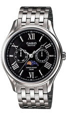 CASIO  Beside  Men's Watch  BEM-312D-1 Stainless Steel ALL 50m  BEM312  With Box