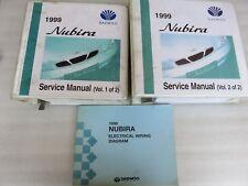 1999 Daewoo Nubira Service Repair Manual OEM Factory Workshop Dealership Set