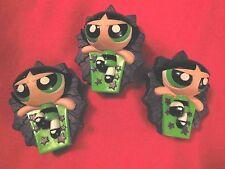 """2003 Green Buttercup Fortune Teller 3"""" Burger King Action Figure Powerpuff Girls"""