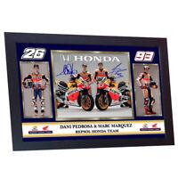 DANI PEDROSA MARC MARQUEZ MOTO GP photo print autograph signed Framed