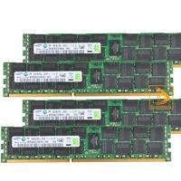 Samsung 4x 16GB 2RX4 PC3L-12800R DDR3L-1600MHz ECC REG Server RAM Memory Kits 64