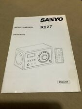 Sanyo R227 Internet Radio Instruction Manual Menu Quick Guide
