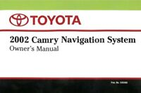 2002 Toyota Camry Navigation System Owners Manual
