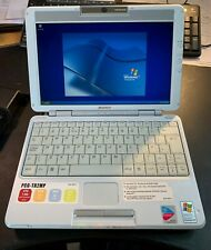 Vintage Sony PCG-TR2MP Laptop, gorgeous design, working on windows XP