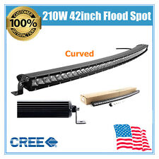 Curved 42inch 210W CREE LED Light Bar Single Row Slim Lamp SUV 4X4WD JEEP /240