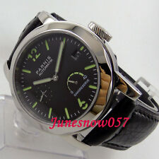 44mm Parnis power reserve seagull 2530 mens watch 700 sapphire glass luminous