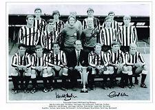 RARE 1969 FAIRS CUP MULTI SIGNED X12 PHOTO COA NEWCASTLE UNITED AUTOGRAPH COA