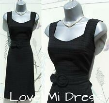 Gorgeous 50's Style Pencil Wiggle Secretary/Evening Dress Sz 8 EU36