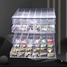Hot! 120 Grids Nail Art Rhinestone Gems Bead Storage Display Case Empty Box New