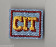 Retired Girl Scouts Cadette Senior Badge Patch~Blue Square CIT Counselor