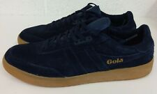 MENS GOLA NAVY SUEDE TRAINERS  - SIZE 8 UK / 42