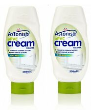 2 x Astonish UPVC Cream Cleaner 550ml Cleans Whitens & Revives UPVC