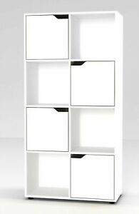 8 Cube Bookcase Shelving Display Shelf Storage Unit Wooden Door Organiser