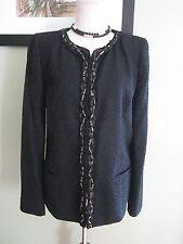 ELIE TAHARI Exclusively for Neiman Marcus Black Textured Blazer Jacket Size 8