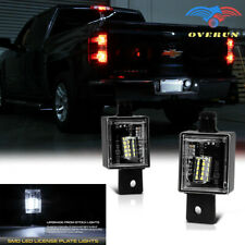 For 2014-18 Chevy Silverado GMC Sierra SMD BRIGHT White LED License Plate Lights