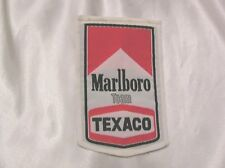 MOTOR RACING CLOTH PATCH from 1970's BRAND NEW OLD STOCK MARLBORO TEAM TEXACO #1