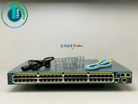 Cisco WS-C2960S-48LPD-L - 48 Port PoE+ Gigabit Switch - SAME DAY SHIPPING