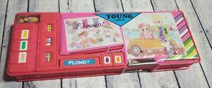 Vintage Flomo Young Love Pink 5 Button Hidden Compartment Pencil Case Box