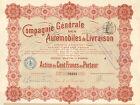 Compagnie de Automobiles de Livraison SA, accion, Paris, 1914